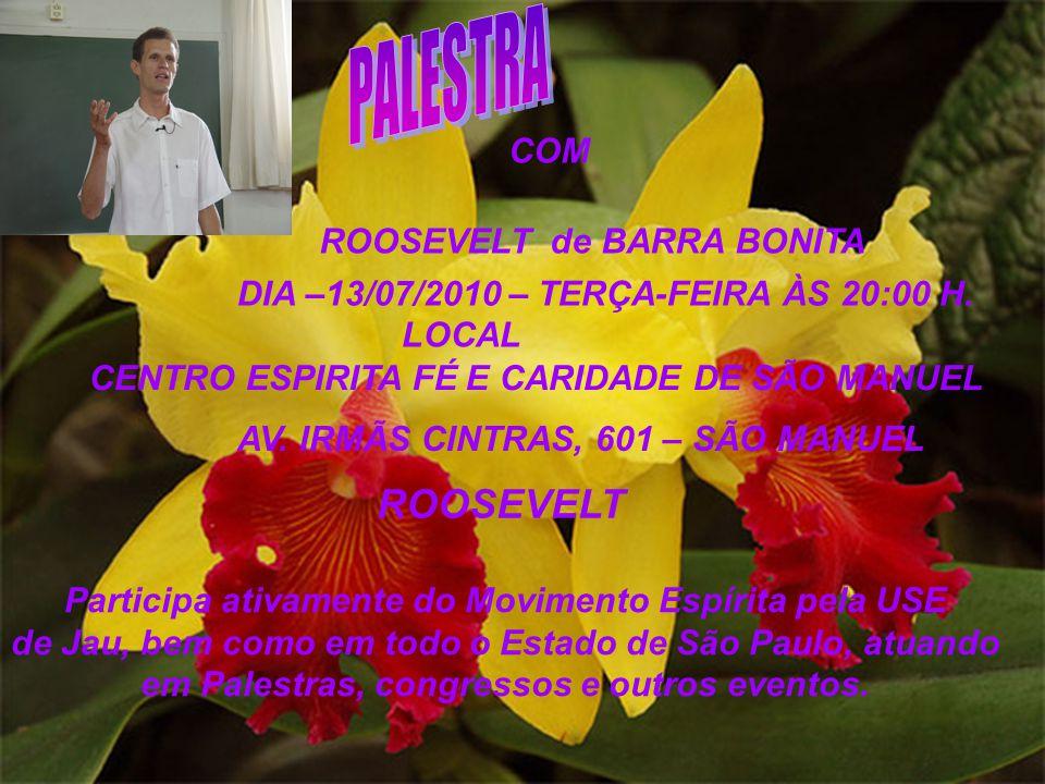 PALESTRA ROOSEVELT COM ROOSEVELT de BARRA BONITA