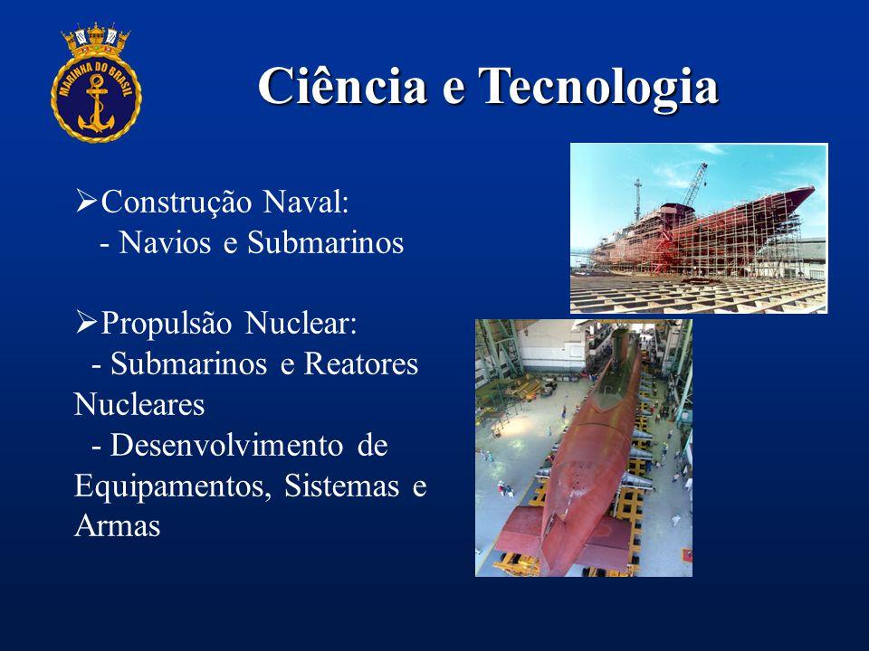 Ciência e Tecnologia Construção Naval: - Navios e Submarinos