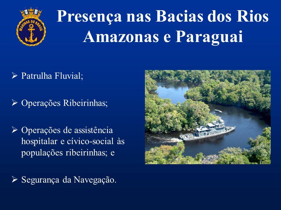 Presença nas Bacias dos Rios Amazonas e Paraguai