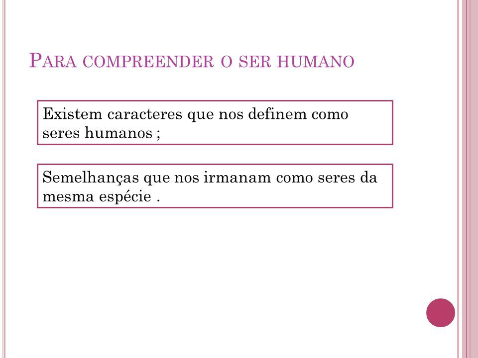 Para compreender o ser humano