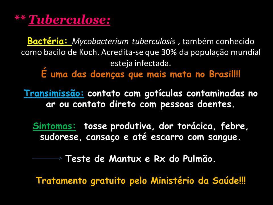 ** Tuberculose: