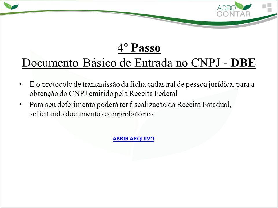 4º Passo Documento Básico de Entrada no CNPJ - DBE