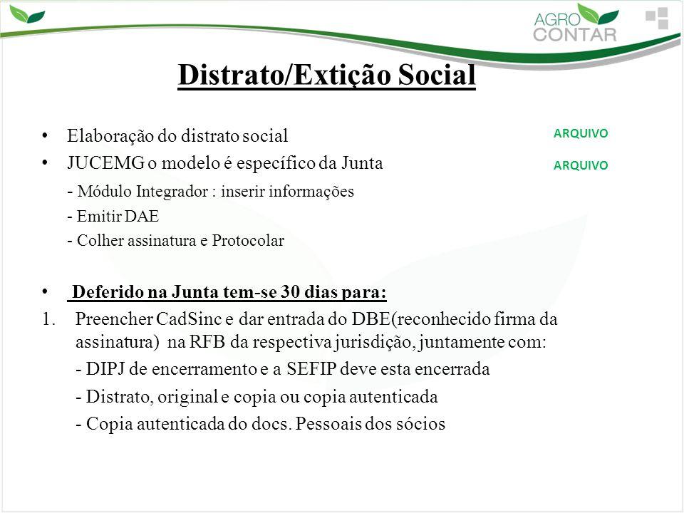 Distrato/Extição Social