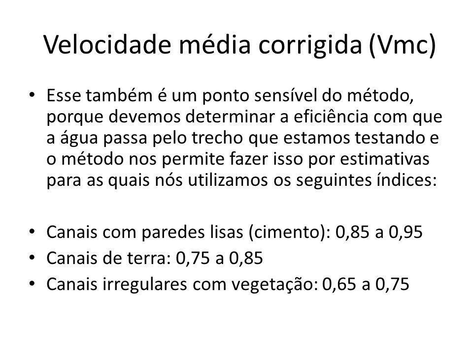 Velocidade média corrigida (Vmc)