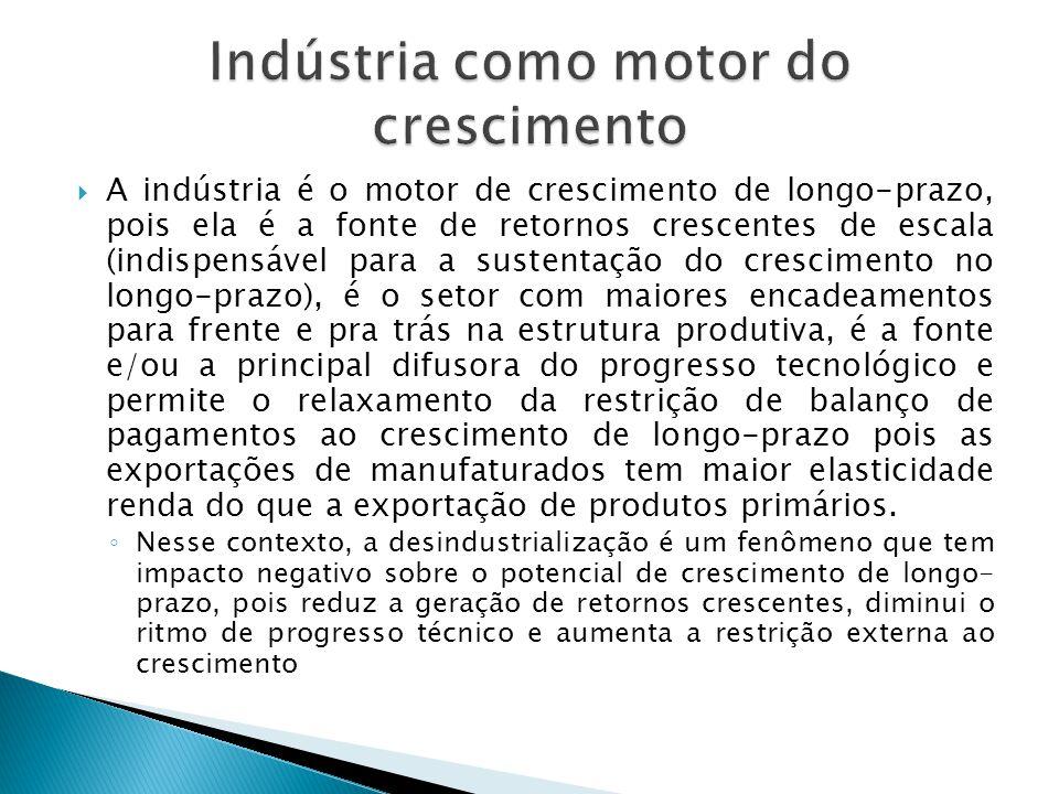 Indústria como motor do crescimento