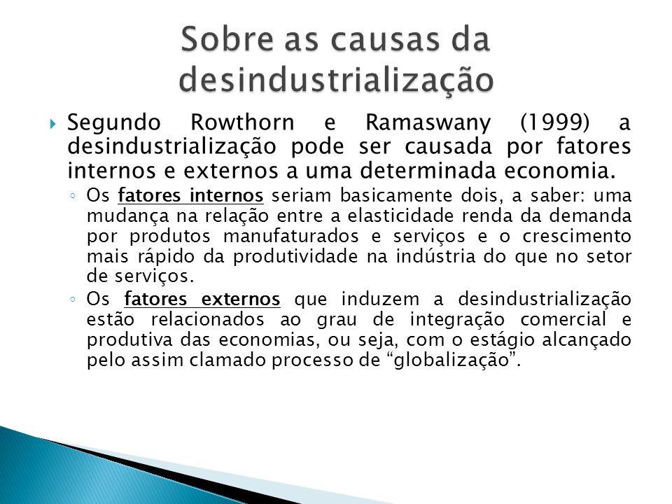 Sobre as causas da desindustrialização