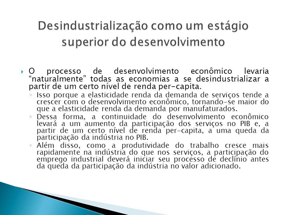 Desindustrialização como um estágio superior do desenvolvimento