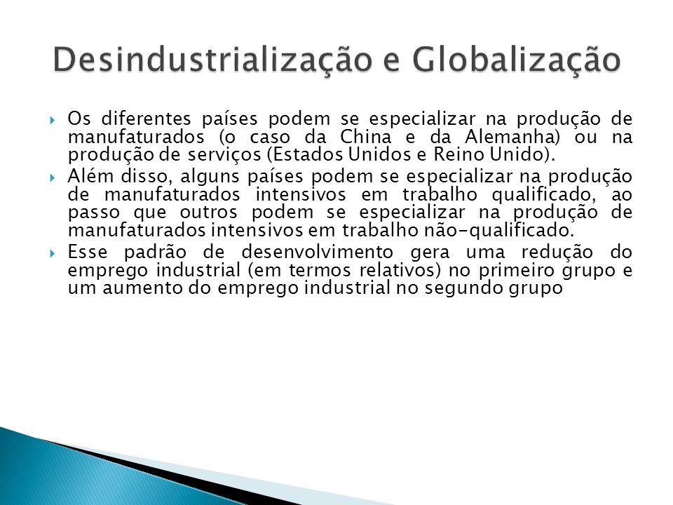 Desindustrialização e Globalização