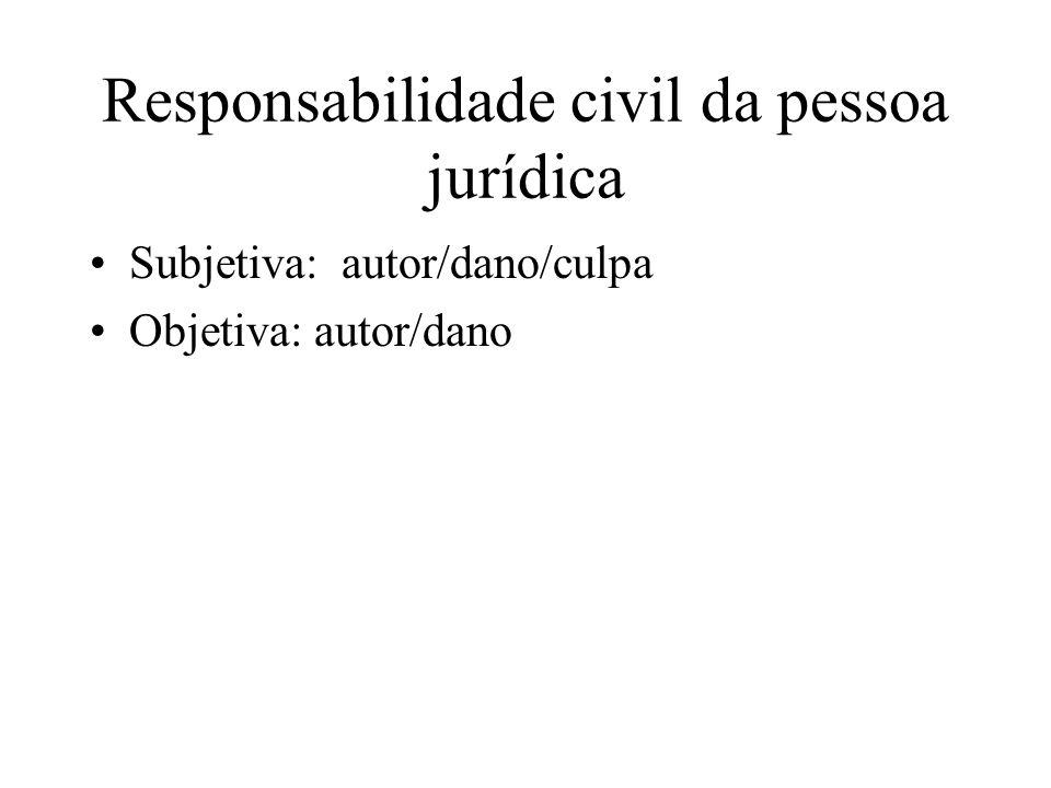Responsabilidade civil da pessoa jurídica