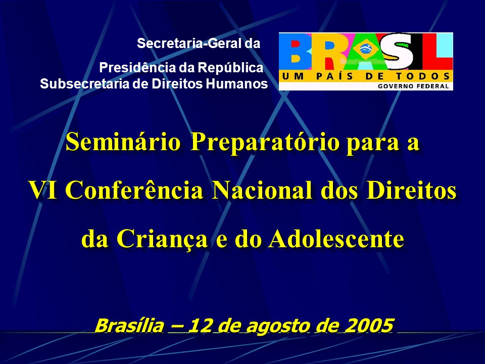 Seminário Preparatório para a VI Conferência Nacional dos Direitos