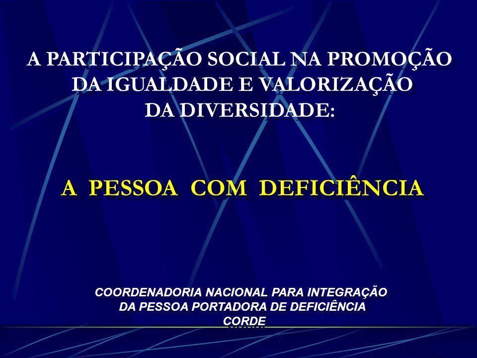 A PESSOA COM DEFICIÊNCIA