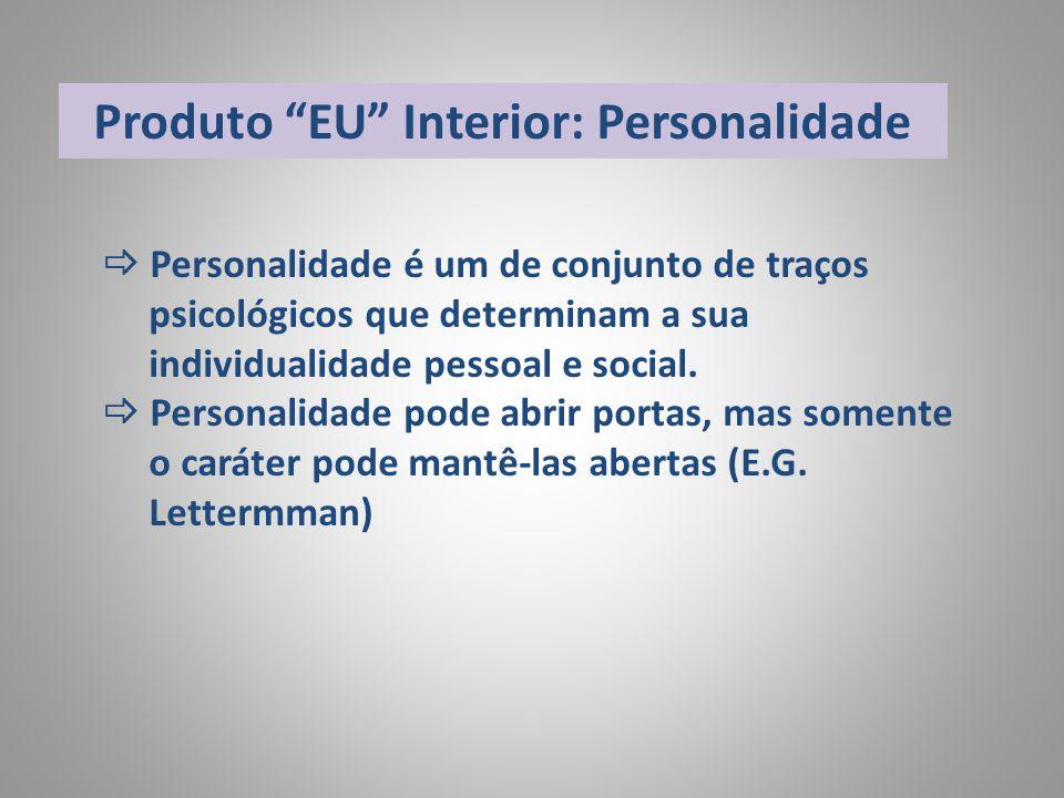 Produto EU Interior: Personalidade
