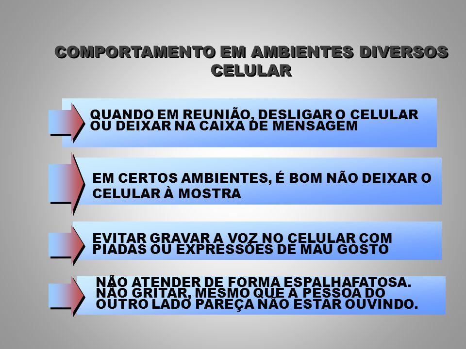 COMPORTAMENTO EM AMBIENTES DIVERSOS
