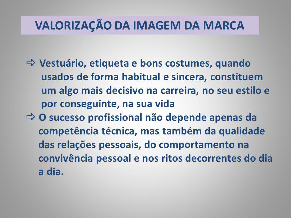 VALORIZAÇÃO DA IMAGEM DA MARCA