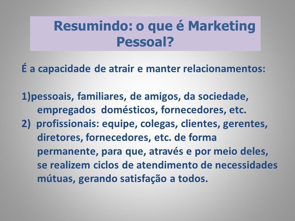 Resumindo: o que é Marketing Pessoal