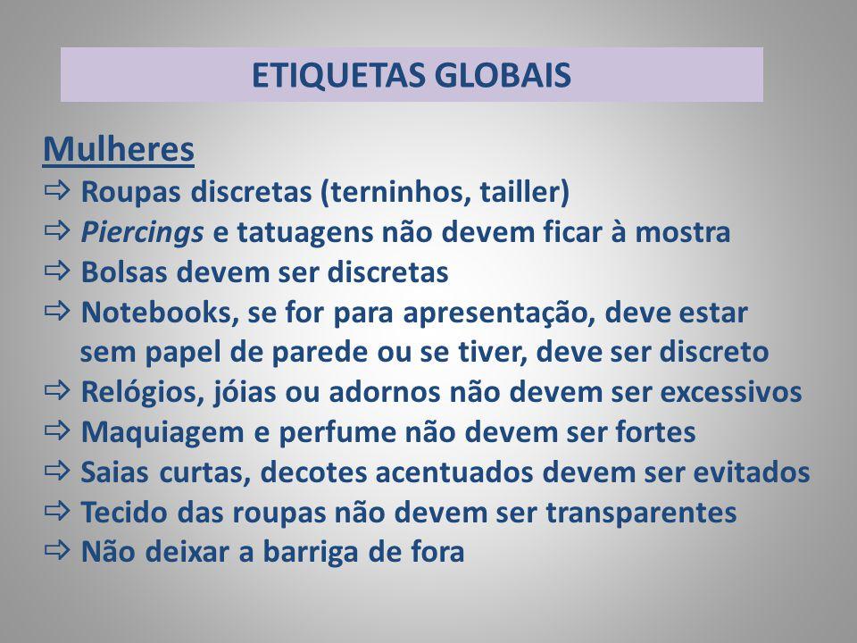 ETIQUETAS GLOBAIS Mulheres Roupas discretas (terninhos, tailler)