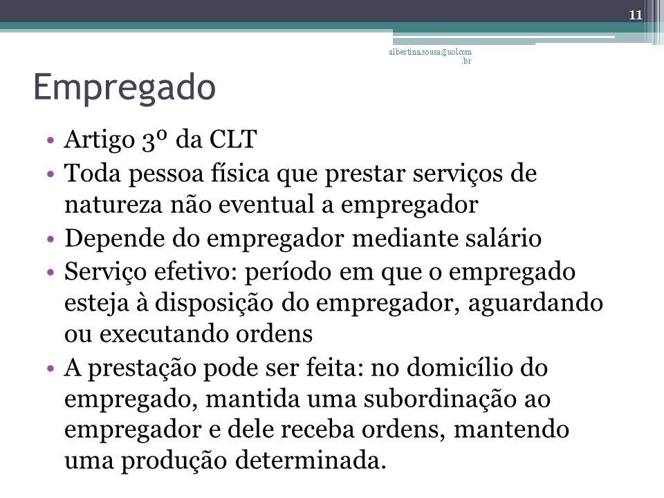 Empregado Artigo 3º da CLT