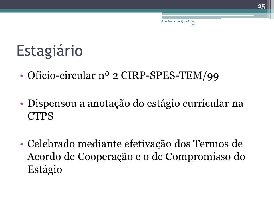Estagiário Ofício-circular nº 2 CIRP-SPES-TEM/99