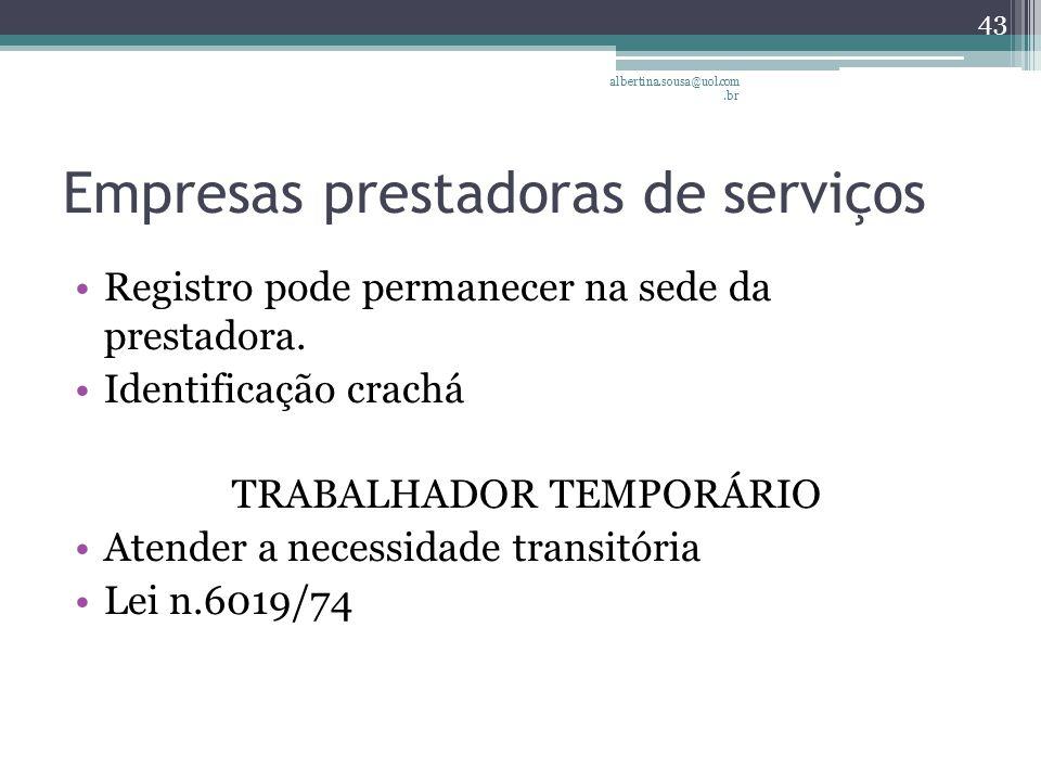 Empresas prestadoras de serviços