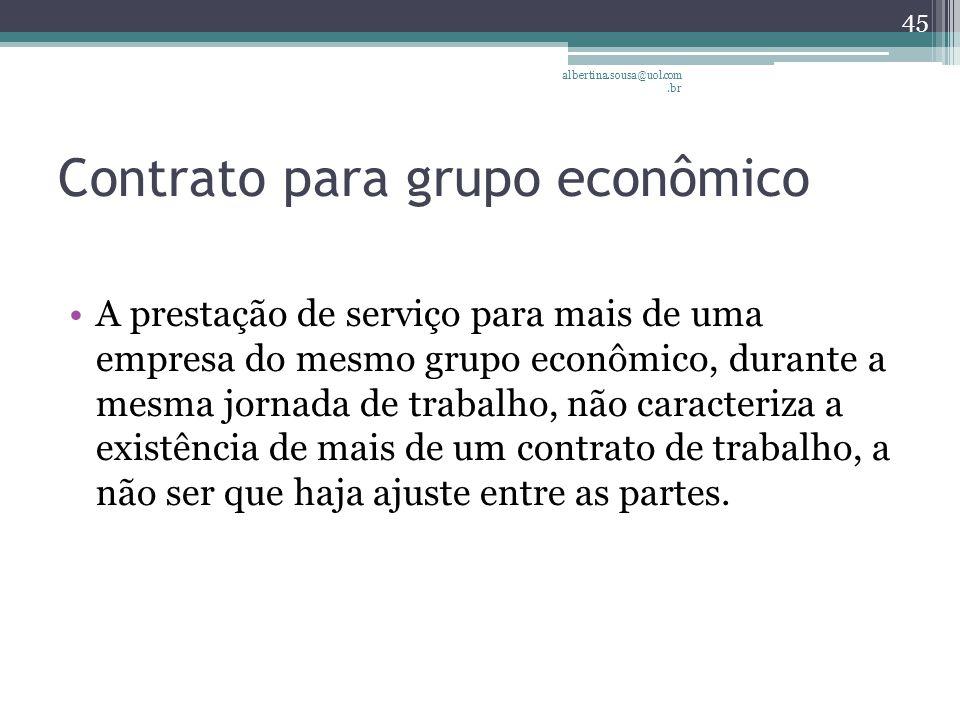 Contrato para grupo econômico