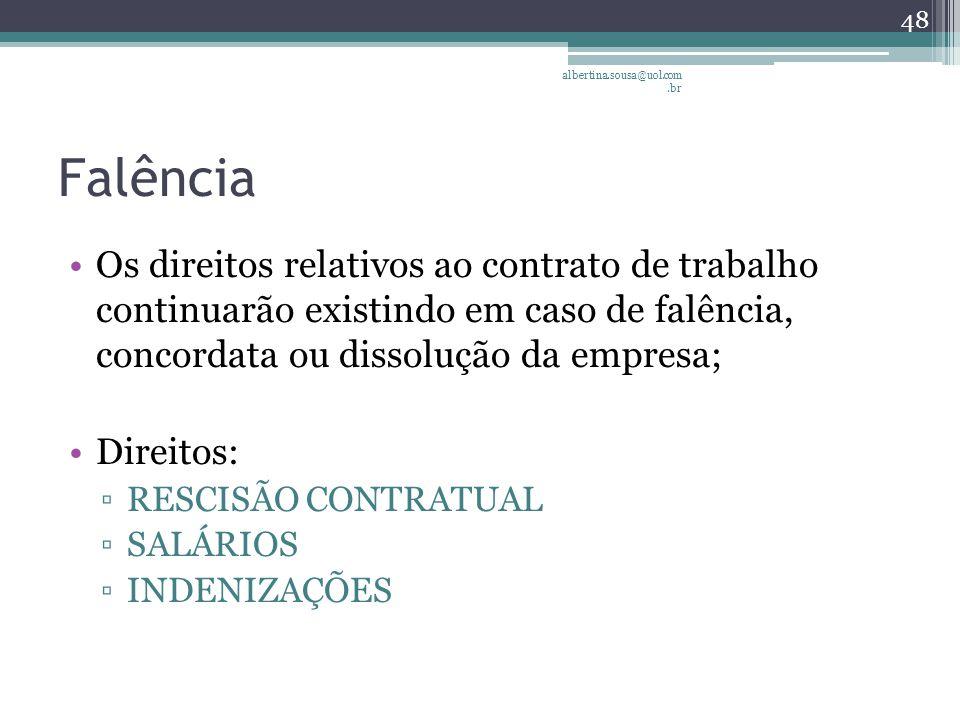 albertina.sousa@uol.com.br Falência.