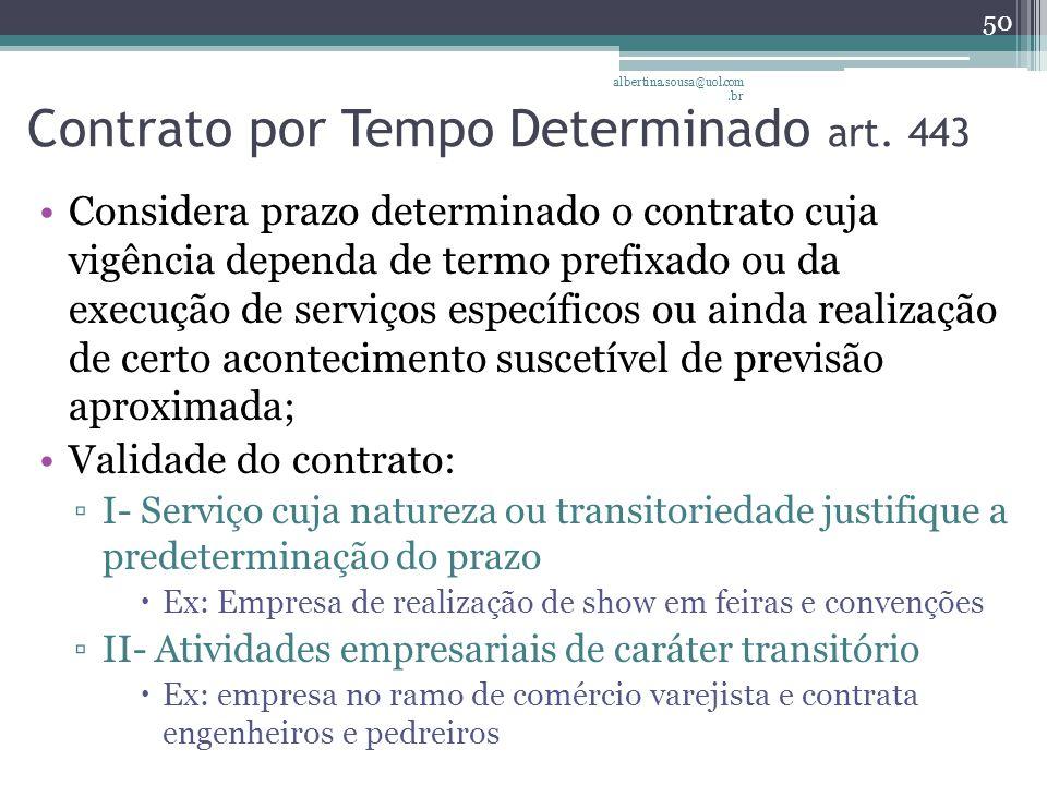 Contrato por Tempo Determinado art. 443