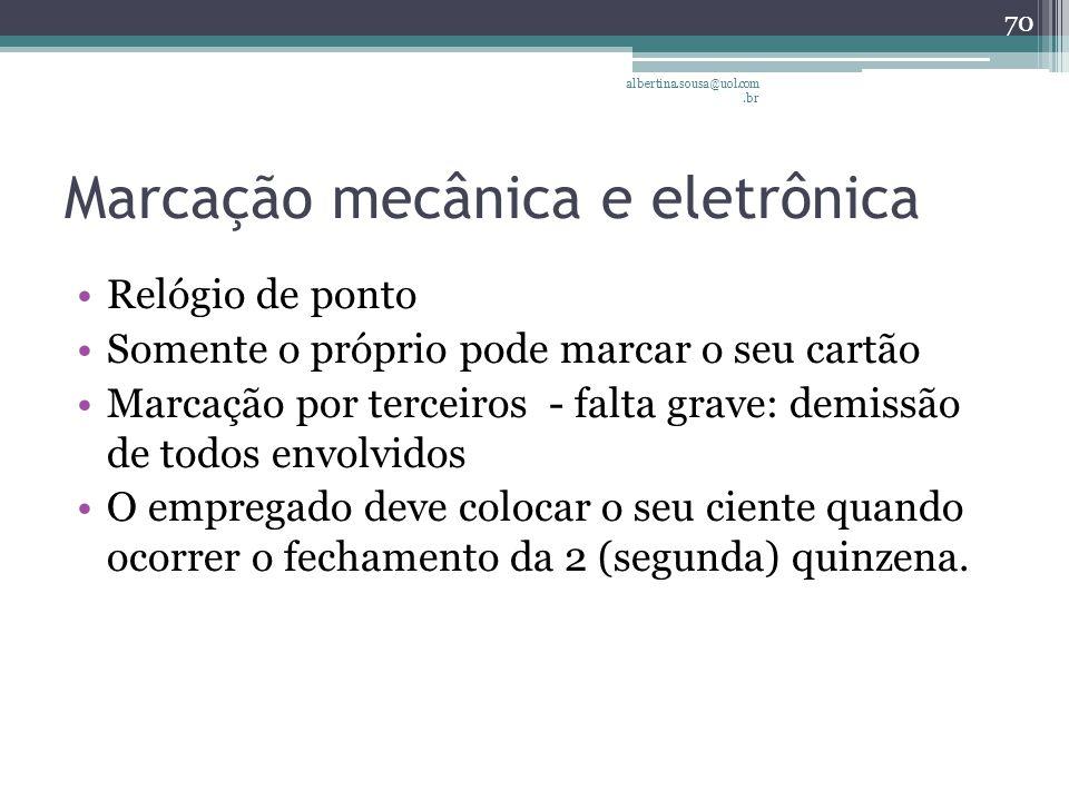 Marcação mecânica e eletrônica