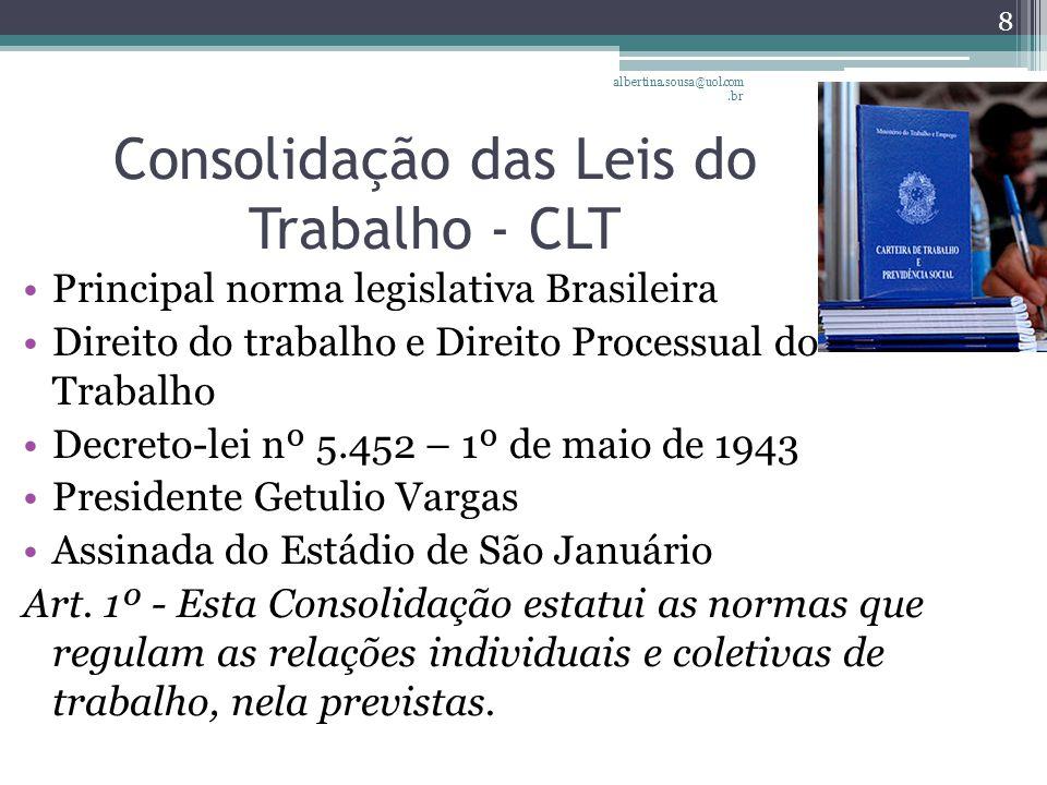 Consolidação das Leis do Trabalho - CLT