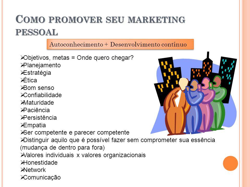 Como promover seu marketing pessoal