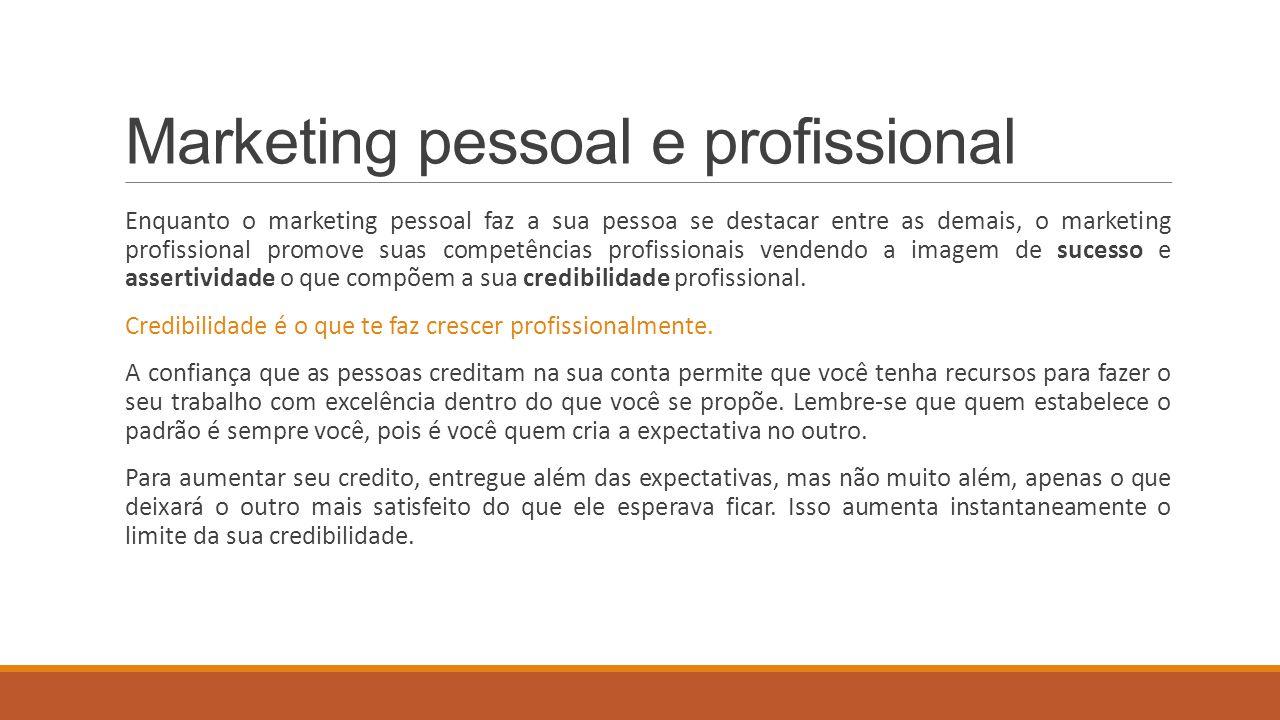 Marketing pessoal e profissional