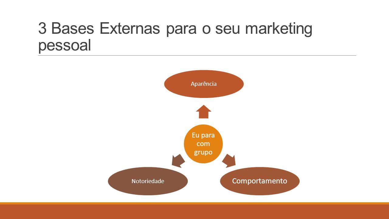 3 Bases Externas para o seu marketing pessoal