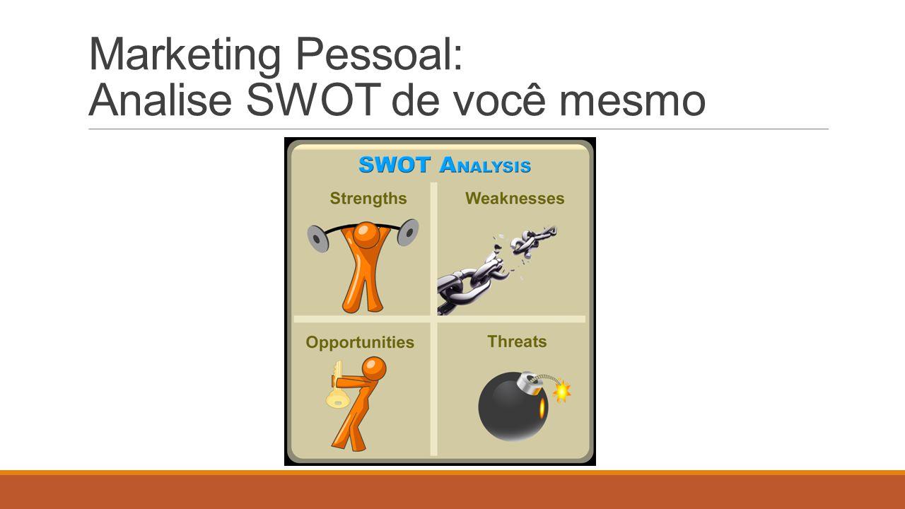 Marketing Pessoal: Analise SWOT de você mesmo