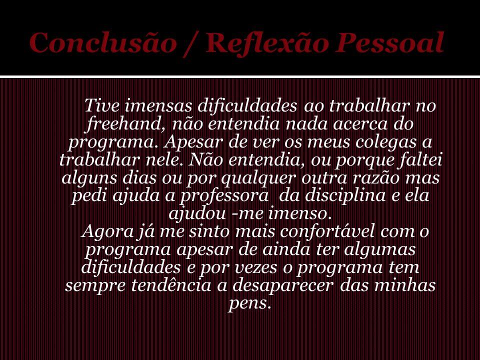 Conclusão / Reflexão Pessoal