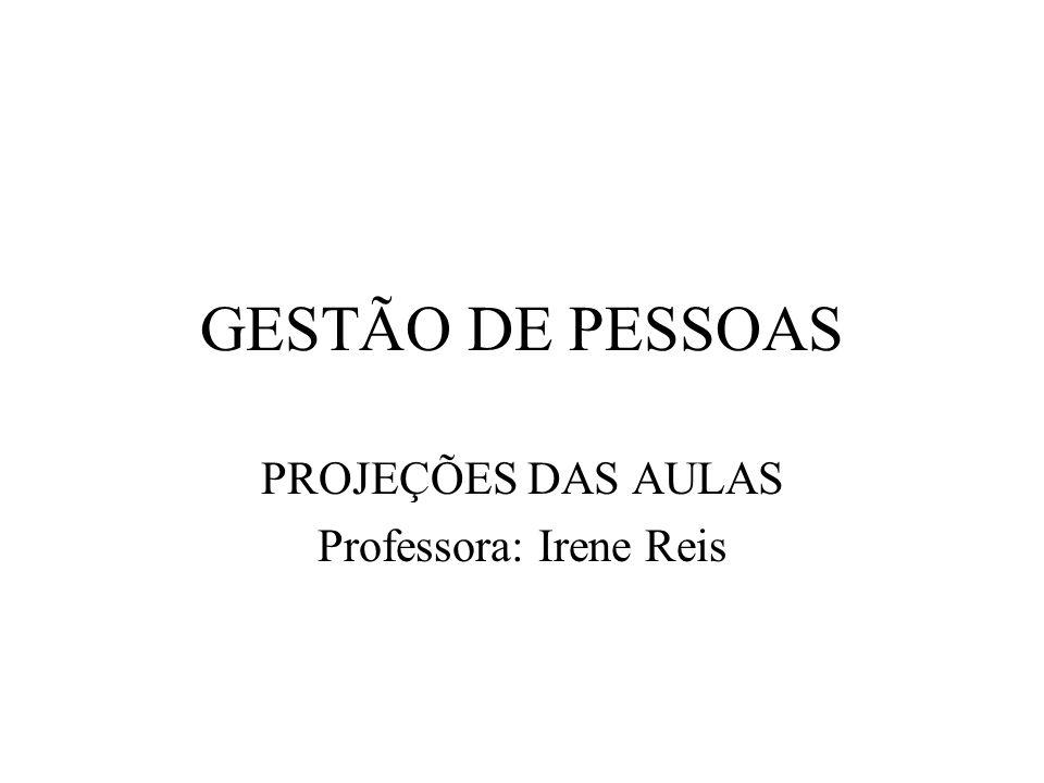 PROJEÇÕES DAS AULAS Professora: Irene Reis