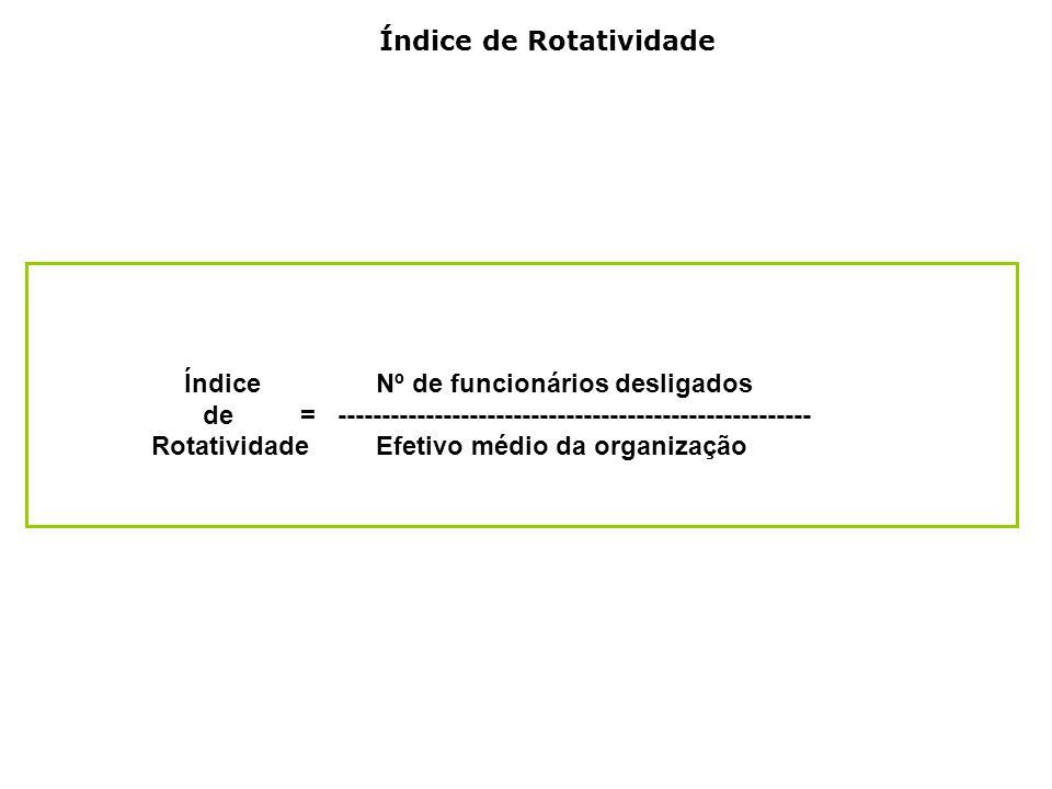 Índice de Rotatividade