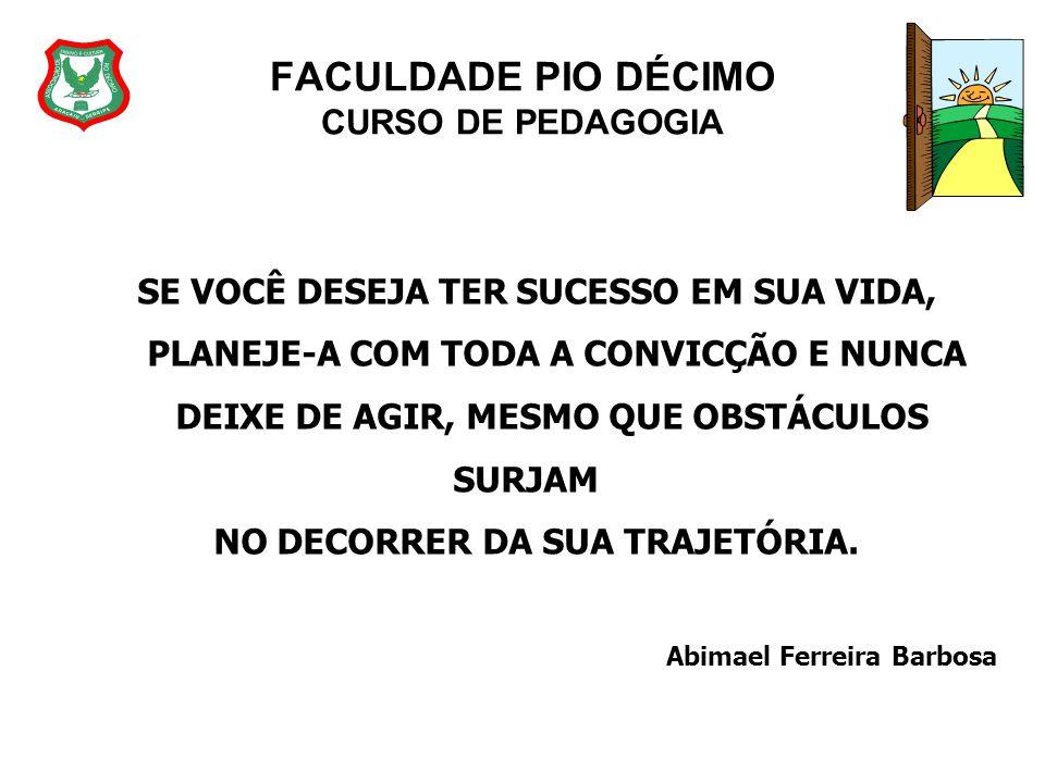 FACULDADE PIO DÉCIMO CURSO DE PEDAGOGIA