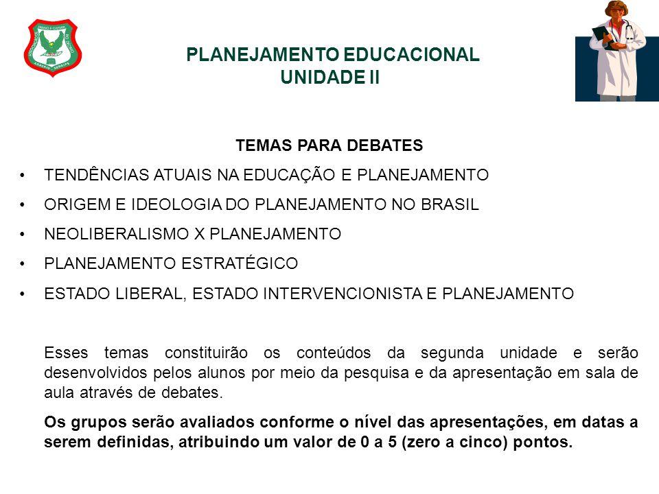 PLANEJAMENTO EDUCACIONAL UNIDADE II