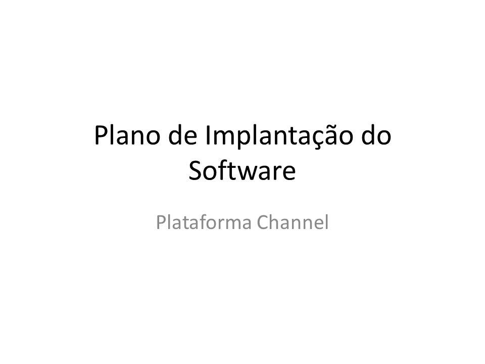 Plano de Implantação do Software