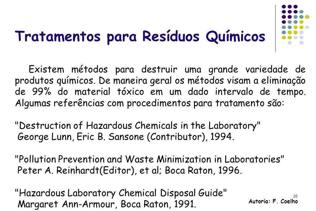Tratamentos para Resíduos Químicos