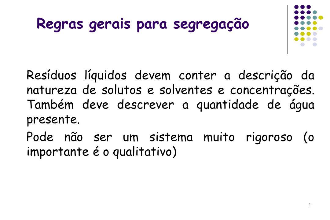 Regras gerais para segregação