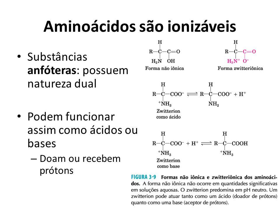 Aminoácidos são ionizáveis