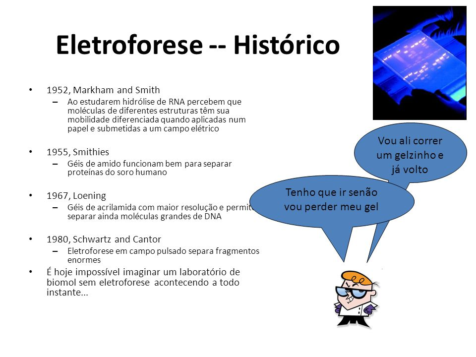 Eletroforese -- Histórico