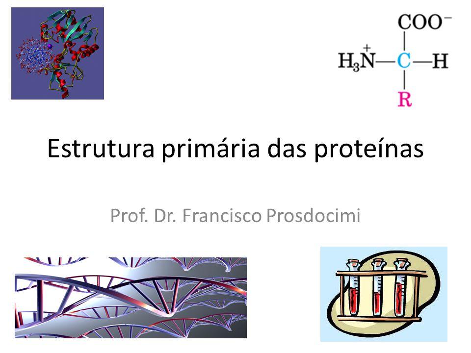 Estrutura primária das proteínas
