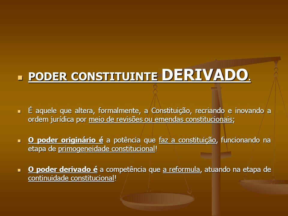 PODER CONSTITUINTE DERIVADO.