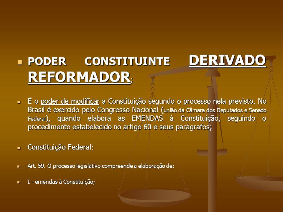 PODER CONSTITUINTE DERIVADO REFORMADOR;