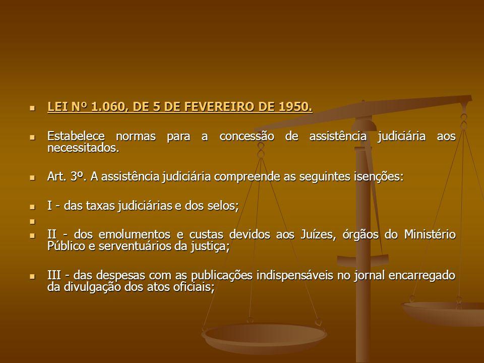 LEI Nº 1.060, DE 5 DE FEVEREIRO DE 1950.