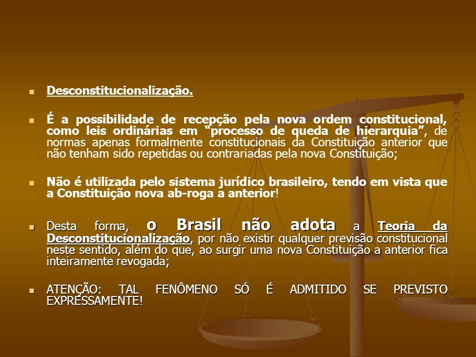 Desconstitucionalização.