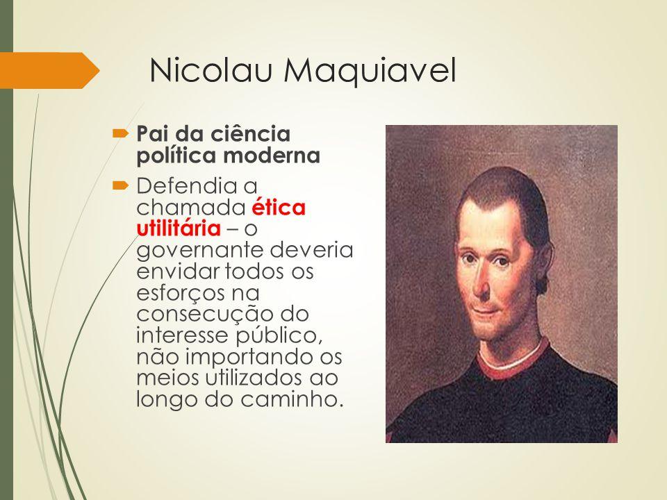 Nicolau Maquiavel Pai da ciência política moderna