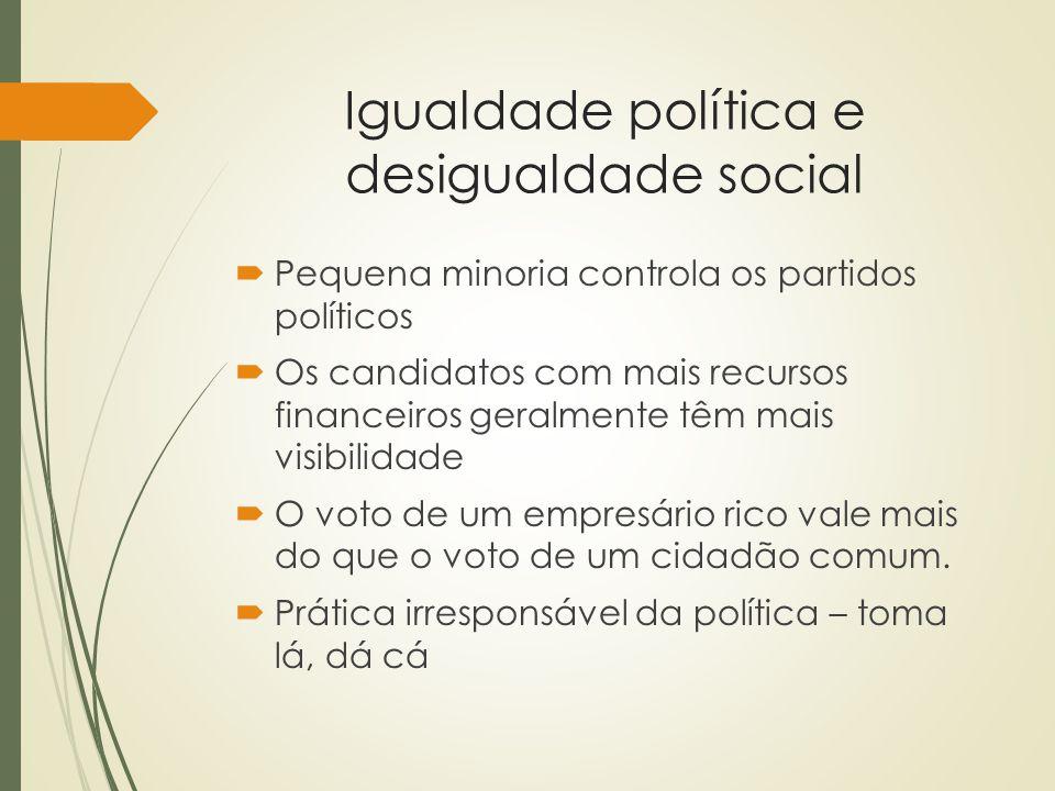 Igualdade política e desigualdade social