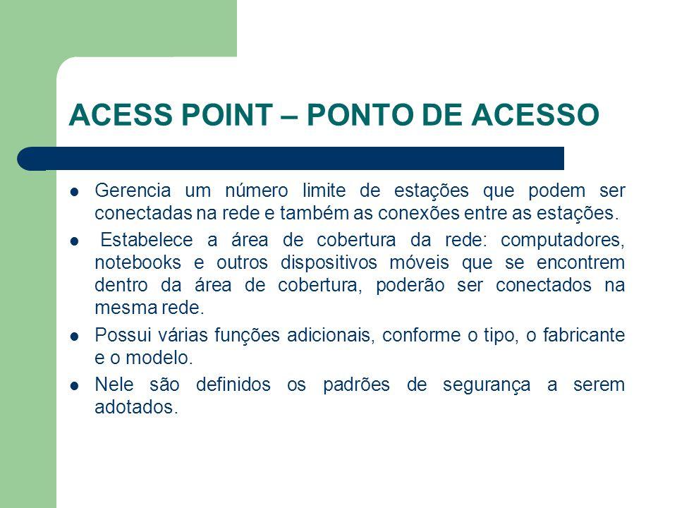 ACESS POINT – PONTO DE ACESSO